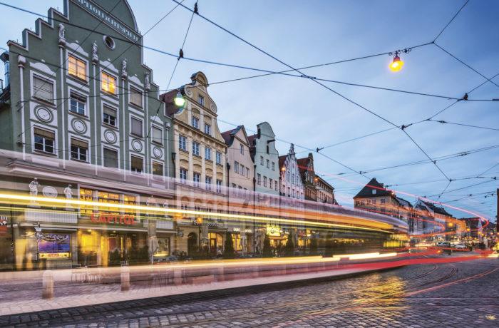 Augsburg on yliopisto- ja korkeakoulukaupunki Baijerin lounaisosassa, eteläisessä Saksassa. Asukkaita on lähes 300 0000, ja se on yksi Etelä-Saksan merkittävimmistä kauppa- ja teollisuuskeskuksista. Kuva: iStock