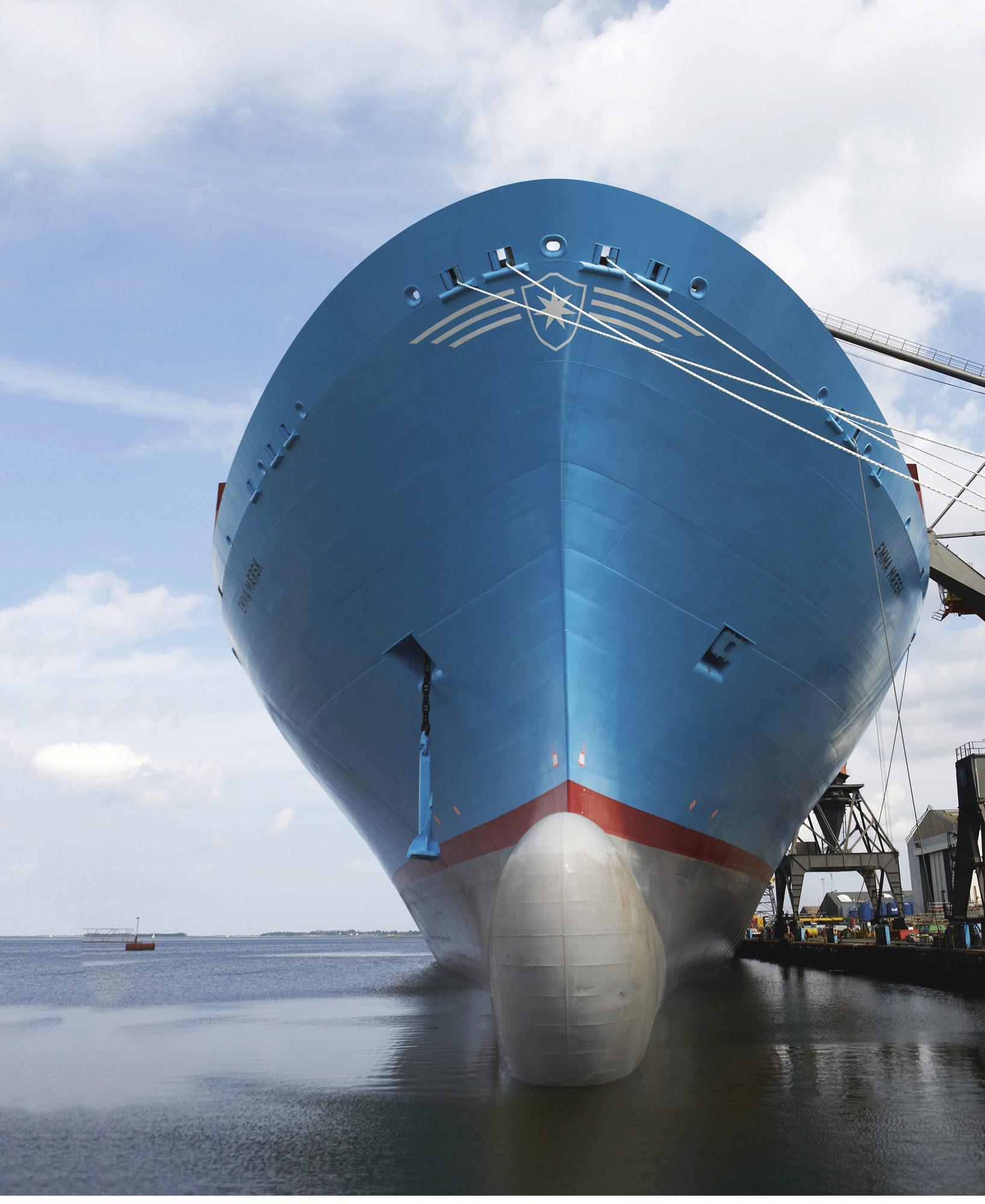 Vuonna 2006 vesille laskettu 398 metrin mittainen Emma Maersk -konttialus oli ensimmäinen suurimman 14-sylinterisen Wärtsilä RT-flex96C -moottorin voimanlähteekseen saanut laiva.