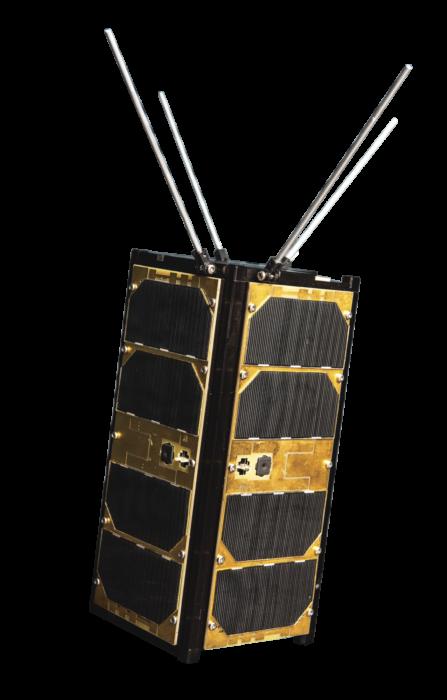 Reaktor Hello World -satelliitti on kiertänyt maapalloa jo 180 vuorokautta yli 7 kilometrin sekuntinopeudella. Kuvassa näköiskappale.